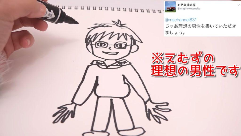 えむずが描いた理想の男性のイラスト